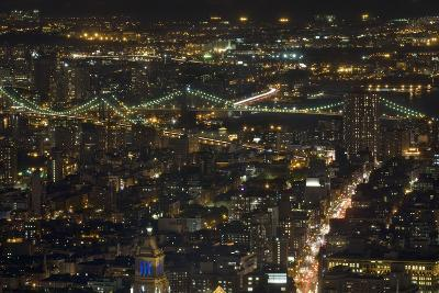 Aerial View of the Manhattan Skyline from the Top of the Rock at Rockefeller Center, New York, Usa--Photographic Print