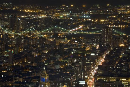Aerial View Of The Manhattan Skyline From The Top Of The Rock At