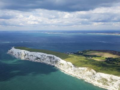 Aerial View of the Needles, Isle of Wight, England, United Kingdom, Europe-Peter Barritt-Photographic Print