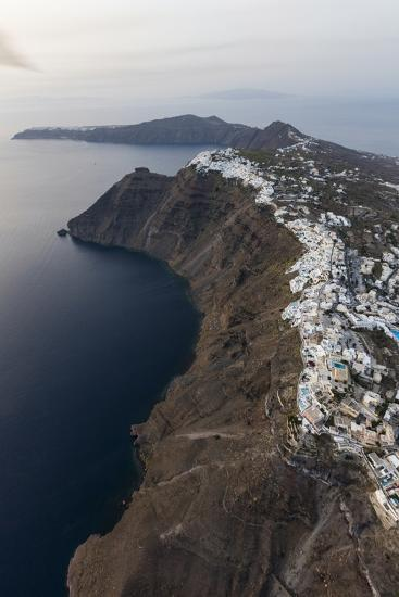Aerial View of the Old Village of Firostefani, Santorini, Cyclades, Greek Islands, Greece, Europe-Roberto Moiola-Photographic Print