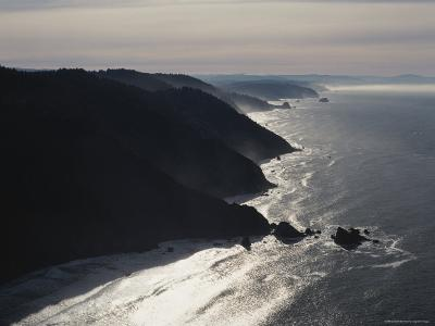 Aerial View of the Pacific Coast of Redwood National Park, California-James P^ Blair-Photographic Print