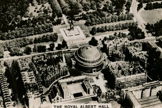 Aerial view of the Royal Albert Hall, 1939-Unknown-Photographic Print