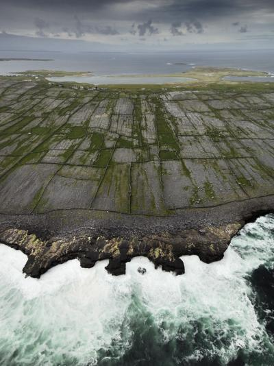 Aerial View of the Rugged Aran Islands-Jim Richardson-Photographic Print