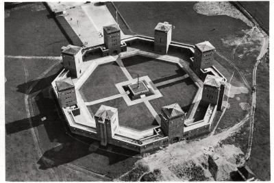 Aerial View of the Tannenberg Memorial, Near Olsztynek, Poland, from a Zeppelin, C1931--Giclee Print
