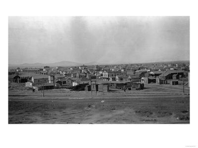 Aerial View of the Town - Pasco, WA-Lantern Press-Art Print