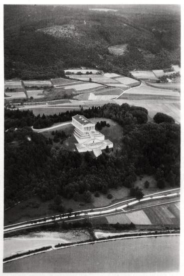 Aerial View of the Walhalla Temple, Near Regensburg, Germany, from a Zeppelin, C1931--Giclee Print