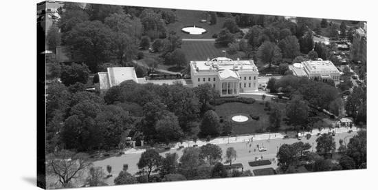 Incredible Aerial View Of The White House Washington D C Black And White Variant Stretched Canvas Print By Carol Highsmith Art Com Download Free Architecture Designs Scobabritishbridgeorg
