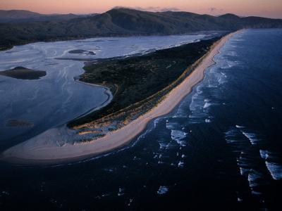 Aerial View of Tillamook Spit, Oceanside, Oregon-Randy Olson-Photographic Print