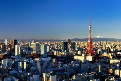 Aerial View of Tokyo's Downtown-vladimir zakharov-Photographic Print