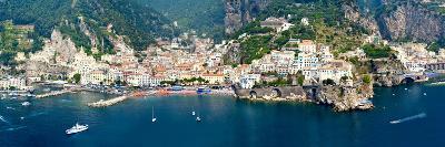 Aerial View of Towns, Amalfi, Atrani, Amalfi Coast, Salerno, Campania, Italy--Photographic Print
