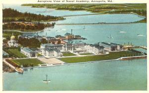 Aerial View of USNA, Annapolis, Maryland