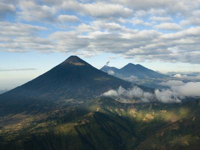 Aerial View of Volcanoes in the Lake Atitlan Area-Karen Kasmauski-Photographic Print