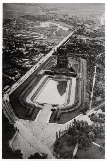 Aerial View of Volkerschlachtdenkmal, Leipzig, Germany, from a Zeppelin, C1931--Giclee Print