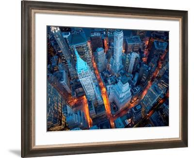 Aerial View of Wall Street-Cameron Davidson-Framed Art Print