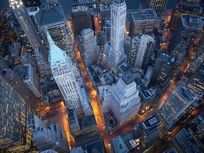Aerial View of Wall Street-Cameron Davidson-Photographic Print