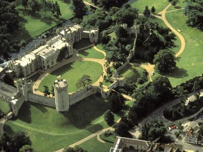 Aerial View of Warwick Castle-Richard Nowitz-Photographic Print