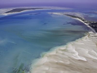 Aerial View of Water Channels on a Tidal Beach-Michael Polzia-Photographic Print