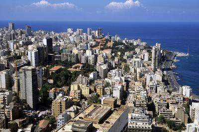 Aerial View of West Beirut--Photographic Print