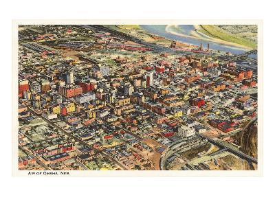 Aerial View, Omaha, Nebraska--Art Print