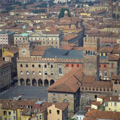 Aerial View over Central Bologna, Emilia-Romagna, Italy, Europe-Tony Gervis-Photographic Print