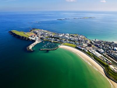Aerial View Over Portrush, Northern Ireland-Chris Hill-Photographic Print