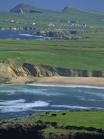 Aerial View over the Dingle Peninsula, County Kerry, Munster, Republic of Ireland, Europe-Maxwell Duncan-Photographic Print