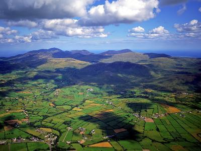 Aerial View Over the Mourn Mountains in Northern Ireland-Chris Hill-Photographic Print