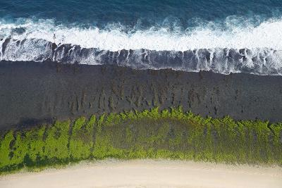 Aerial View over the Reefs and Beaches of the Bukit Peninsula of Bali, Indonesia-Design Pics Inc-Photographic Print