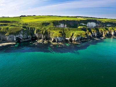 Aerial View Over White Rocks on the North Irish Coast-Chris Hill-Photographic Print