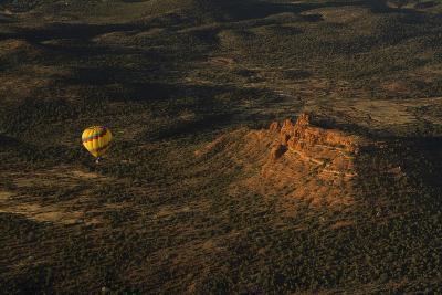 Aerial View, Red Rock Country, Cockscomb, Sedona, Coconino NF, Arizona-Michel Hersen-Photographic Print