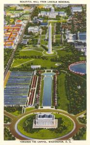 Aerial View, Reflecting Pool, Mall, Washington, D.C.
