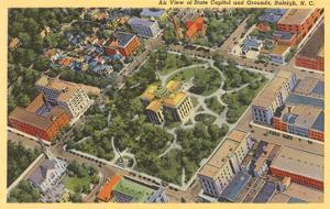 Aerial View, State Capitol, Raleigh, North Carolina