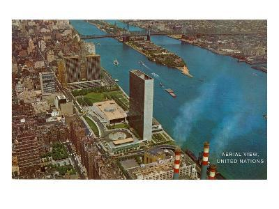 Aerial View, United Nations Building, New York City--Art Print