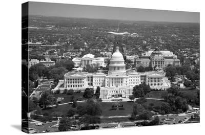 Aerial view, United States Capitol building, Washington, D.C. - Black and White Variant-Carol Highsmith-Stretched Canvas Print