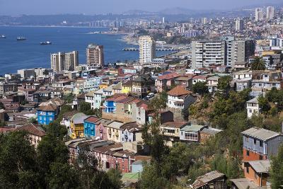 Aerial View, Valparaiso, Chile-Peter Groenendijk-Photographic Print