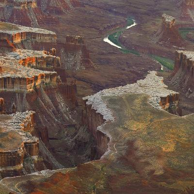 Aerial Viewed from the Green River Overlook, Canyonlands National Park, Utah-Tim Fitzharris-Photographic Print