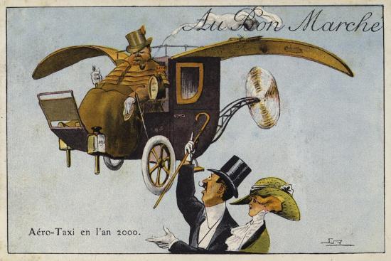 Aero-Taxi in the Year, 2000--Giclee Print