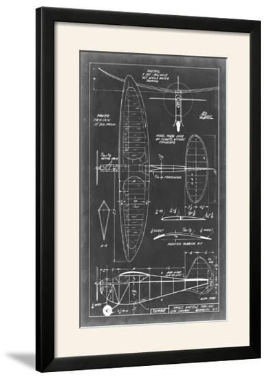 Aeronautic Blueprint I-Vision Studio-Framed Photographic Print