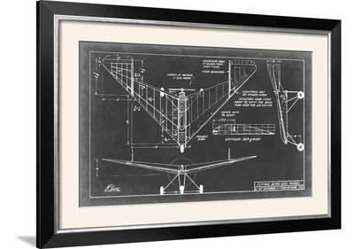 Aeronautic Blueprint V-Vision Studio-Framed Photographic Print