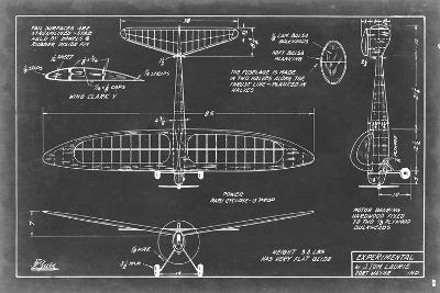 Aeronautic Blueprint VI-Vision Studio-Art Print