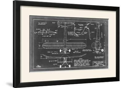 Aeronautic Blueprint VII-Vision Studio-Framed Photographic Print