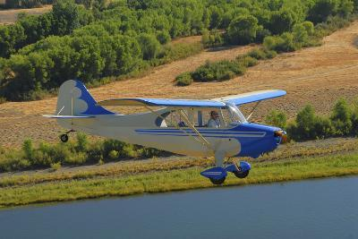 Aeronca 7Ac Champion Aircraft Flying over Chico, California-Stocktrek Images-Photographic Print