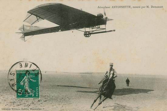 Aeroplane Antoinette Flown by M Demanest--Photographic Print