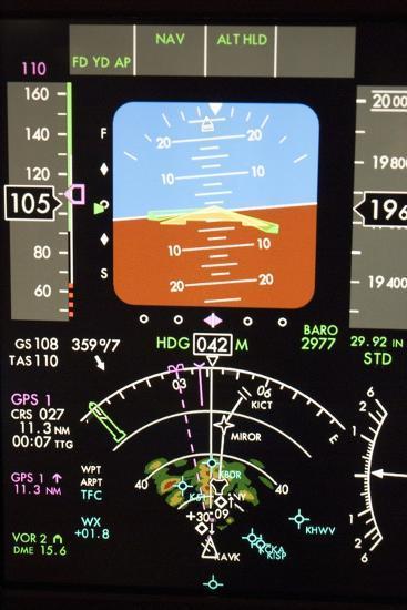Aeroplane Control Panel Display-Mark Williamson-Photographic Print