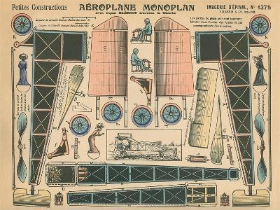Aeroplane Monoplan--Art Print