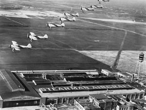 Aeroplanes Flying Above Stearman Aircraft Factory, 1941