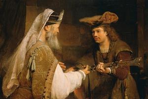 Ahimelech Giving the Sword of Goliath to David, 1680s by Aert de Gelder