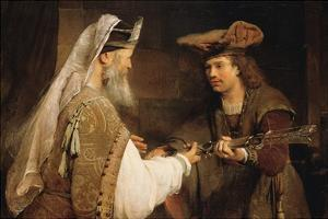 Ahimelech Giving the Sword of Goliath to David by Aert de Gelder