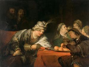 The Banquet of Ahasuerus, 1680S by Aert de Gelder