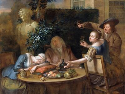 A Drinking Party in the Garden, 1739